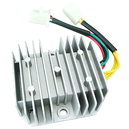 amazon com: jrl 6-wires 12v dc voltage regulator rectifier for honda dirt  bike ch125 gy6 quad 1pc: automotive
