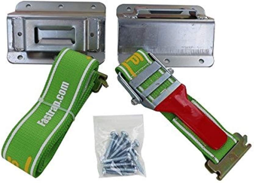 Pack of 2 Green Touch Fastrap Tie-Down Kit