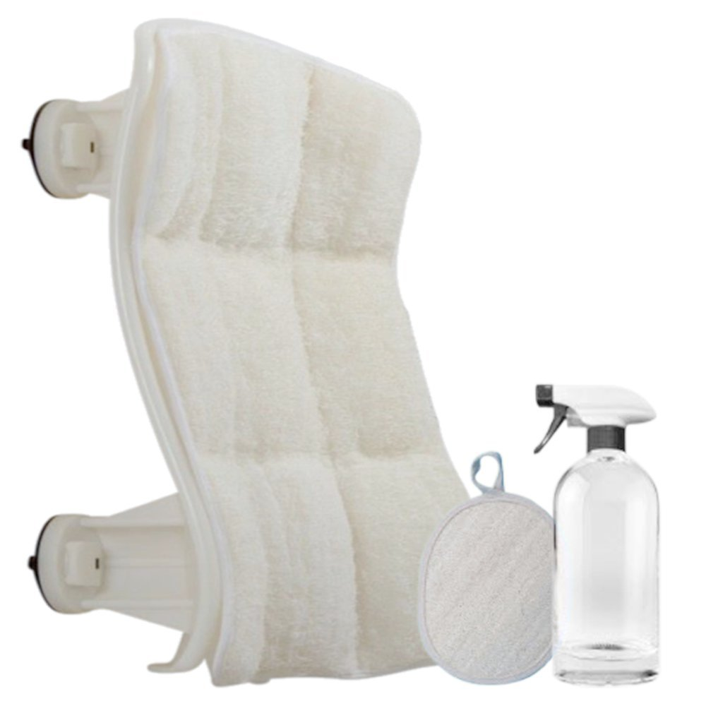 Luffoliate - Exfoliating Hands-Free Shower Loofah Back Scrubber (22 x 20 Inches) Large
