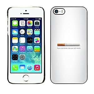 TaiTech / Prima Delgada SLIM Casa Carcasa Funda Case Bandera Cover Armor Shell PC / Aliminium - Butt fumadores - Gracioso - iPhone 5 / 5S