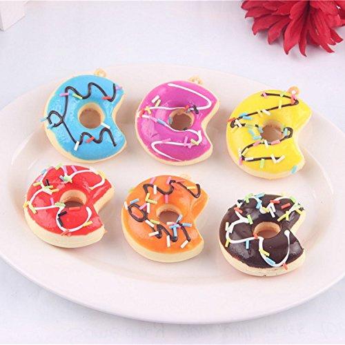 Global Brands Online 10PCS 5CM Alã©Atoire Couleur Bite a Donuts Squishy Cell Phone Crafts Cream Parfumé