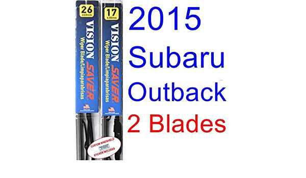 Amazon.com: 2015 Subaru Outback Replacement Wiper Blade Set/Kit (Set ...