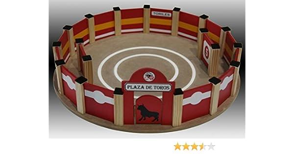 Plaza toros de madera peque/ña En kit para montar artesanal medidas 50x8,5 cms