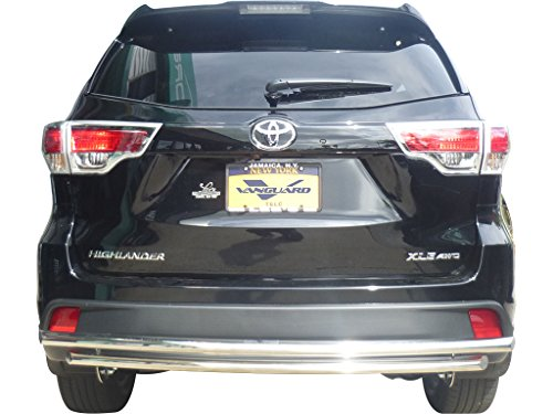 VANGUARD Off Road VGRBG-0779SS Multi-fit Rear Bumper Guard Stainless Steel Double Layer Style