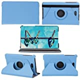 PANDA Dell Venue 8 PRO Smart Cover Case 360 Rotating Ultra-thin Leather Case Wiht Stand Covers for Dell Venue 8 PRO Windows 8.1 Hd Tablet (8 Inch) (BLUE)