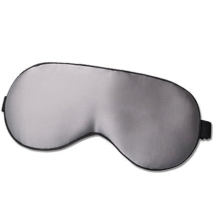 LONFROTE - Máscara de dormir de seda natural con tapones para los oídos y bolsa de