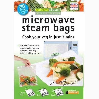 Bien diseñado Quickasteam bolsas de vapor para microondas ...