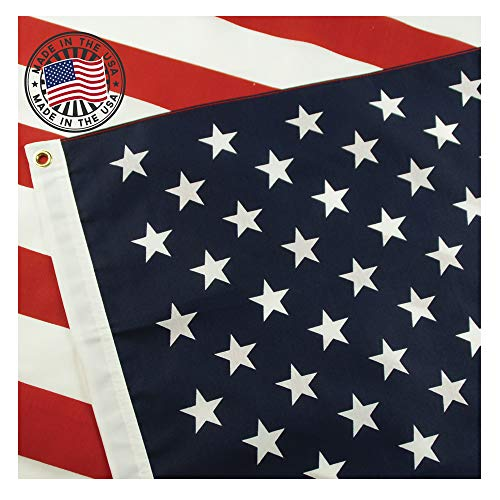 - American Flag: 100% Made in USA Certified by Grace Alley. 3x5 ft