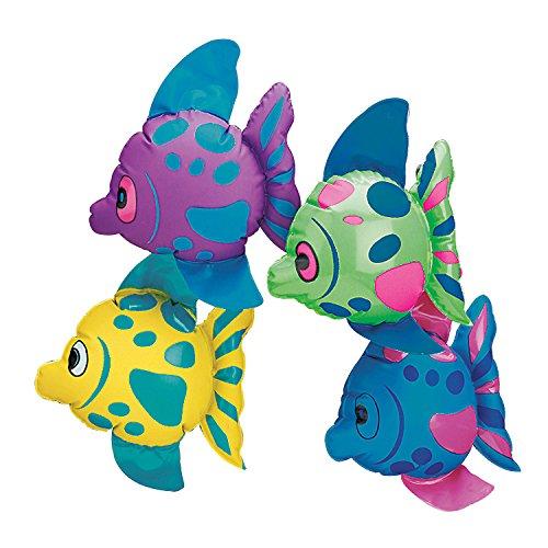 Fun Express Mini Inflatable Fish (1 Dozen) -