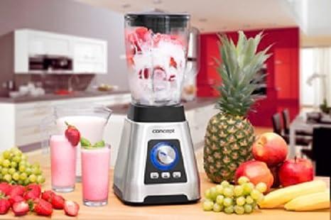Concept Electrodomésticos SM3410 Batidora, 1000 W, 1.5 litros, Vidrio, 16 Velocidades, Plata: Amazon.es: Hogar