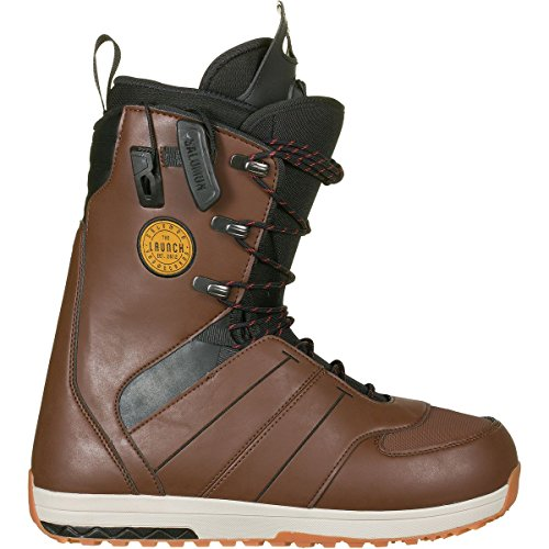 Salomon Snowboards Launch Lace Snowboard Boot - Men's Brown, (Brown Mens Snowboard Boots)