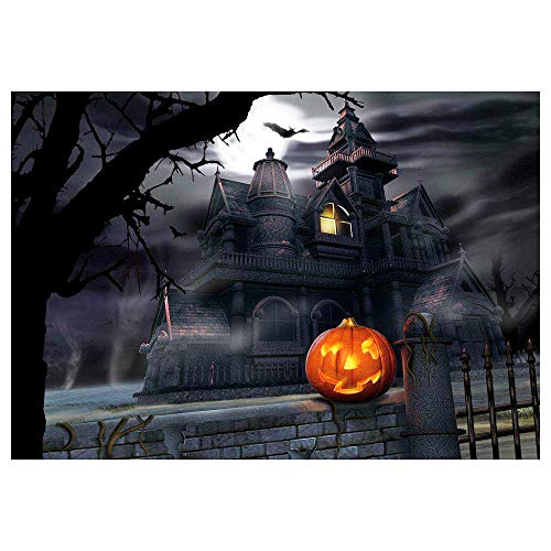 Halloween Cross Stitch Arts,Lovewe 5D DIY Diamond Painting,Embroidery Round Diamond Home Halloween Decor Gift (C)