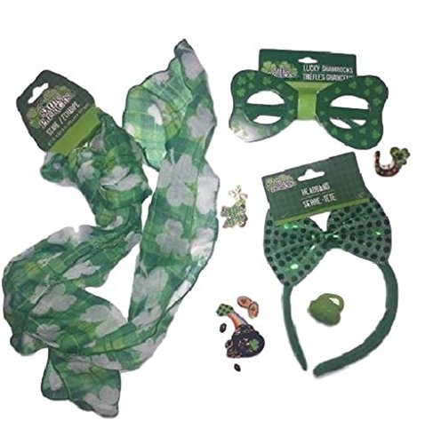 St Pa (Adult Shamrock Suit And Tie Costumes)