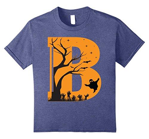 Kids Letter B Halloween Costume Group Shirts Tees 12 Heather Blue -