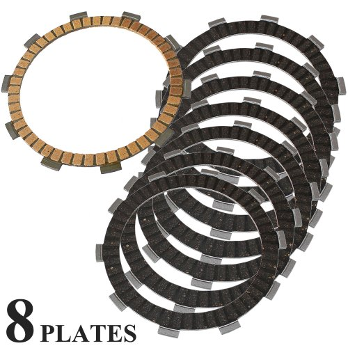 Caltric FRICTION CLUTCH PLATE Fits HONDA VT750 VT750C VT 750 C SHADOW AERO 2004-2013 8-PLATES - Clutch Friction