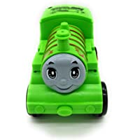 FunBlast Pull Push Back Action Train Toy for Kids, Push Back Bump & Go Train Engine Toy Set for Kids (Green)