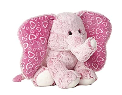 "Aurora World 14"" I Love You Big Time Pink Elephant Plush"