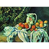 Canvas Prints Of Oil Painting ' Paul Cezanne-Still Life With A Curtain,1898 ' , 10 x 14 inch / 25 x 35 cm , High Quality Polyster Canvas Is For Gifts And Basement, Kitchen And Nursery Decoration, fast