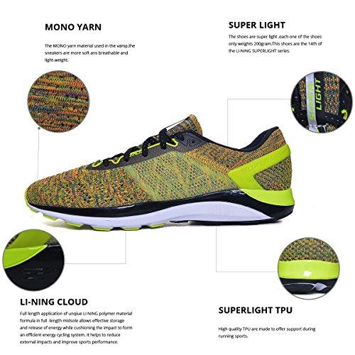 Li-ning Superlichte Xiv-hardloopschoenen Voor Heren Demping Dmx Sneakers Groen / Zwart