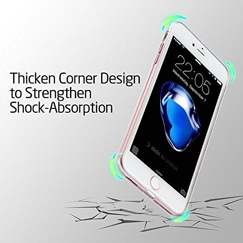 iPhone 7 Custodia, ESR Apple iPhone 7 Case Custodia Cover Shock-Absorption Bumper e Anti-Scratch Clear Back per iPhone 7 (Jelly Pink)