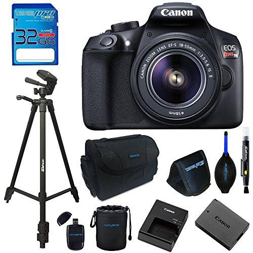 Canon EOS 1300D / T6 EF-S 18-55mm 18.7MP CMOS 5184 x 3456 Pixels (Black) + 72