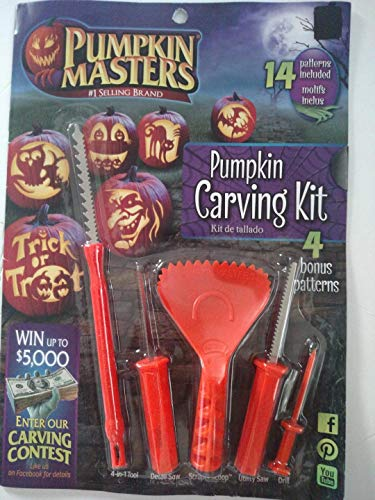 Pumpkin Masters America's Favorite 19 Piece Pumpkin Carving Kit with 14 Patterns and 5 Tools by Pumpkin Masters (Image #1)