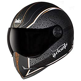 SteelBird Helmet Adonis Rustic/SBH-1 Matt Black/Orange 580mm S.V