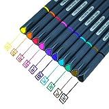 #4: Fineliner Color Pen Set,0.38mm Colored Fine Line Point,Assorted Colors,10-Count