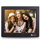 Arzopa Advanced Digital Picture Photo Frame – HD 1024×600(4:3) IPS Widescreen Eletronic Picture Frame Advertising Player with Calendar/Clock/Remote Control Black 8-inch