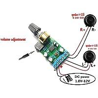 winwill DC1.8–12V tda2822m amplificador 2.0canales estéreo AUX Audio