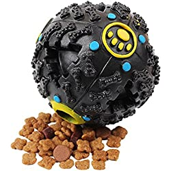 Hot Sound Leakage Food Ball Smarter Interactive IQ Treat Ball Dog Toys Ball, 3.2 Inch, Black