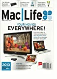 MAC LIFE, APRIL, 2013 (THE ULTIMATE BLUETOOTH KEYBOARD) YOUR MOVIES EVERYWHERE