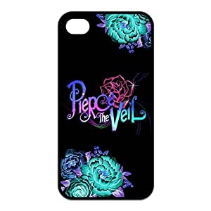 Fashion Pierce the Veil Personalized iPhone 4 4S Rubber Gel Silicone Case Cover
