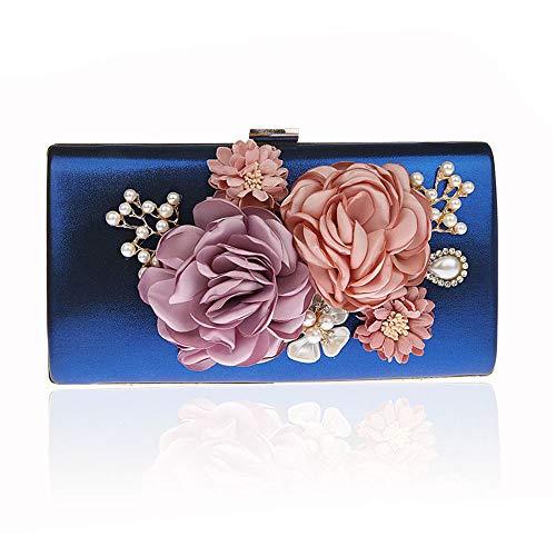 De Elegante Noche Bolsos Hermosa De Embragues Flor Bolsa De Azul Mano Cartera La Mano Conejo De De Novia Boda De Dama 8wxxzqf1