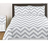 Sweet Jojo Designs Gray Queen Bed Skirt for Gray