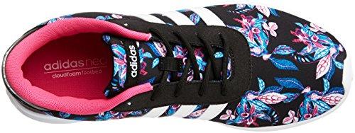 adidas Lite Racer W, Sneaker a Collo Basso Donna, Nero (Negbas/Ftwbla/Rosimp), 40 EU