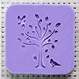 New Arrival Natural Handmade Acrylic Soap Seal Stamp Mold Chapter mini DIY TREE with BIRDS pattern organic glass