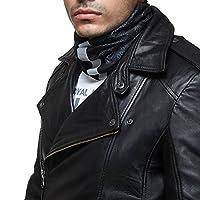 Royal Enfield BUA150001 Polyester Buff Head Wear (Black, Large)
