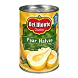 Del Monte Fruit Pear Halves in Heavy Syrup, 15.25 Ounce - 12 per case.