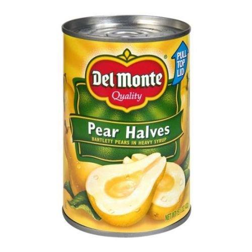 Del Monte Fruit Pear Halves in Heavy Syrup, 15.25 Ounce - 12 per case.