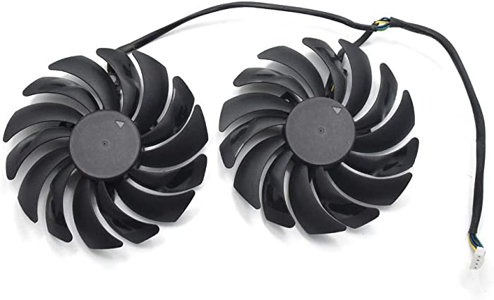 95MM Video Card Fans Replacement for MSI GTX 1070,1080 Ti Gaming X, RX 480/580 Gaming X Graphic Card Cooling Fan
