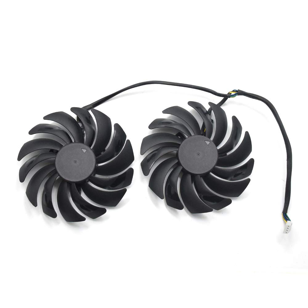 95MM Dual Ball Bearing Graphics cards cooling fan For MSI GTX 1060 1070 1080 TI RX 470 480 570 580 Gaming Video Card Cooler by inRobert