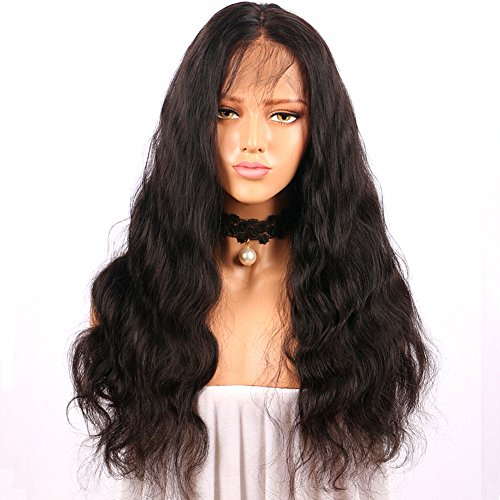 BiuTee Lace Front Wig for Women Black Long Curly Hair Looking Natural Wave Heat Resistant Fiber Glueless Synthetic Wigs 24inch