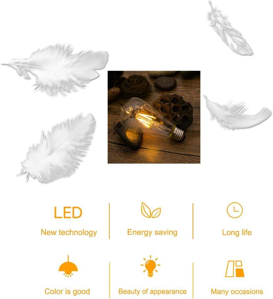 Edison Gl/ühbirne E27 Retro Gl/ühbirne 4W LED Vintage Beleuchtung ST64 Ideal f/ür Retro Beleuchtung im Haus Caf/é Bar Musikzimmer Restaurant Hochzeit Weihnachten Dekoration Amber Warm SidiOutil 4 Stk