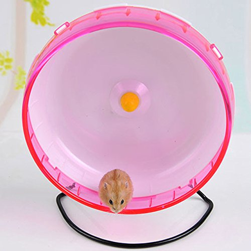 Qin ChenChen Hamster Pet Exercise Silent Wheel Running Spinner Toy Random Color