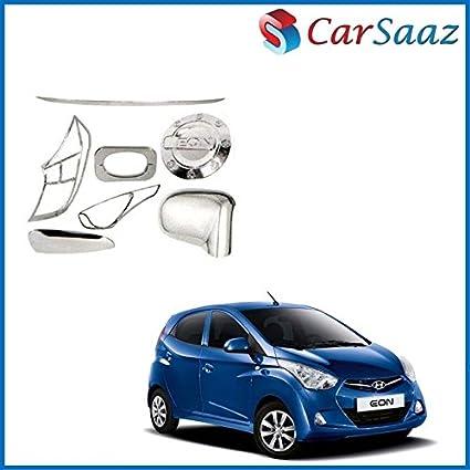 Carsaaz Chrome Accessories Combo/Pack for Hyundai Eon (LX