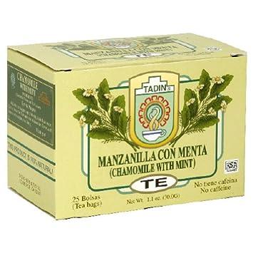 Amazon.com : Tadin, Tea Manznla W Menta, 24 BG (Pack of 6 ...