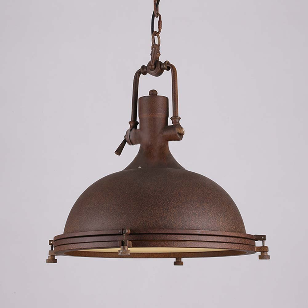 Industrial Nautical Style Single PendantLITFAD Dome Shape - Large single pendant light