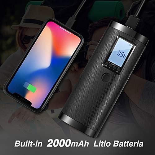 Bicicletta e Palla Compressore Aria con LCD Display Auto Vastar Compressore Portatile Banca di Potere Mini Compressore per Moto
