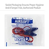 Howard Leight by Honeywell Airsoft Flanged Reusable Earplugs with Red Polycord, 100-Pairs (DPAS-30R),Blue